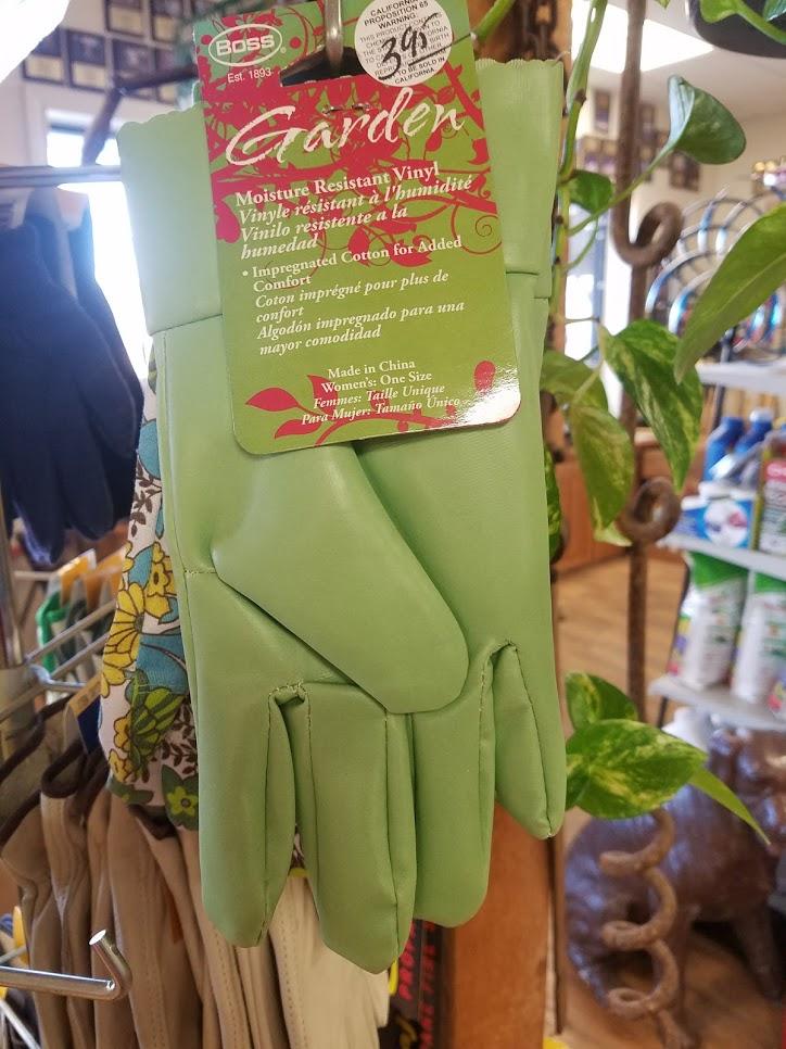 Gloves - Garden - Green Vinyl - Womens