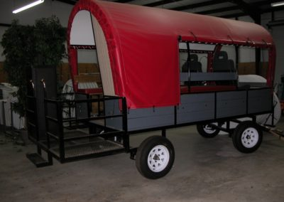 Covered Red Wagon