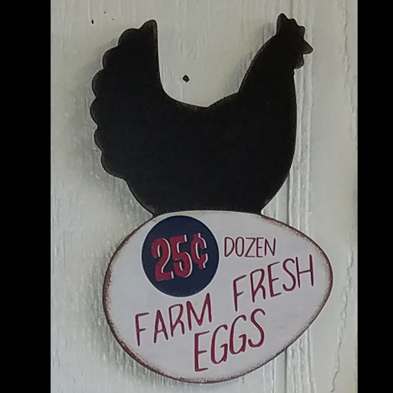 Wall Decor - Rooster with Farm Fresh Eggs