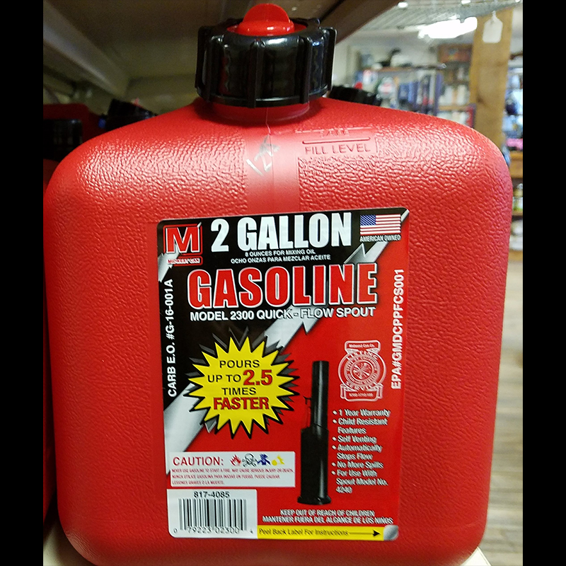 Gasoline 2 Gallon Container