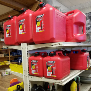Gasoline Can Midwest Shelves