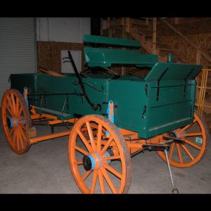 Farm Wagon with Orange Wheels