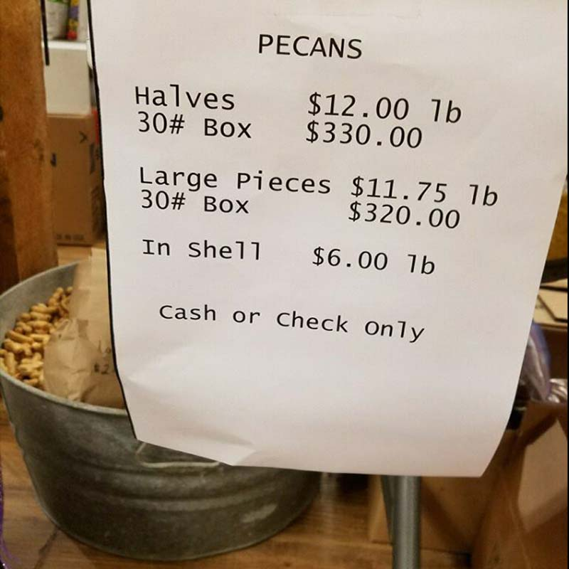 Pecans - Halves, Pieces & In the Shell