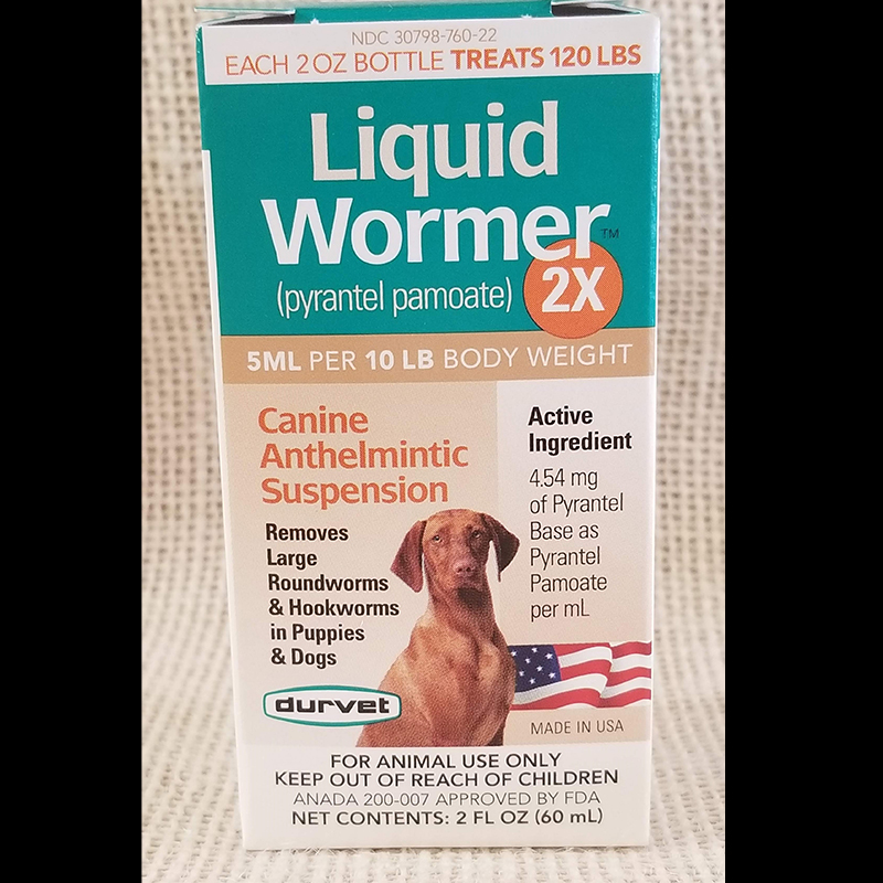 Wormer Liquid 2X Canine